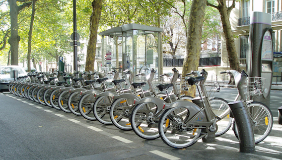 Paris bike sharing