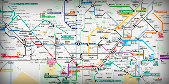 Barcelona Guide to Public Transportation Cross Pollinate