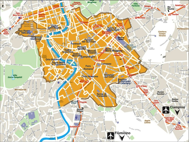 Image result for Rome Aurelian wall map